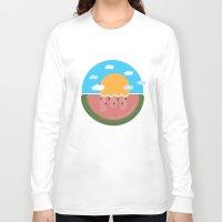 hakuna Long Sleeve T-shirts featuring Watermelon x Summer by Hakuna Mettata