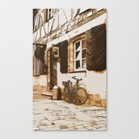cycling Canvas Prints featuring Cycling by Karl-Heinz Lüpke