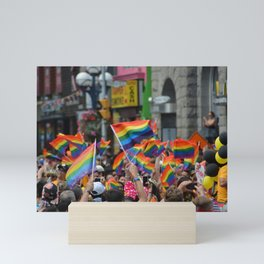 Gay Pride March Mini Art Print