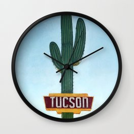Tucson Vintage Neon Sign Wall Clock