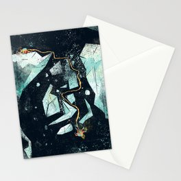 Climbing the Crevasse Stationery Cards