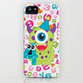 Birthday Monsters 4th Birthday iPhone Case
