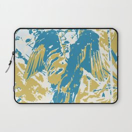Wings, Blue & Yellow Laptop Sleeve