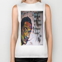 salvador dali Biker Tanks featuring Salvador Dali by Ruby Chavez