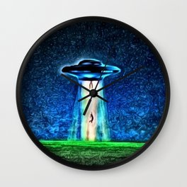 Area 51 Unidentified Flying Object Landscape Wall Clock