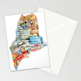 State of Maine  Stationery Cards