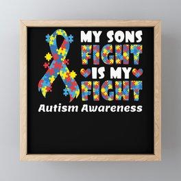 My Song Fight Autism Awareness Top Framed Mini Art Print
