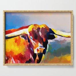 Texas Longhorn 4 Serving Tray