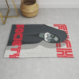 Mr Robot alternate print Rug