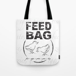 FEED BAG/Black & White Tote Bag