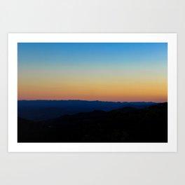 Blue Ridge Parkway Sunset Art Print