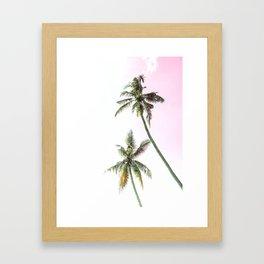 Dos Palmeras Framed Art Print