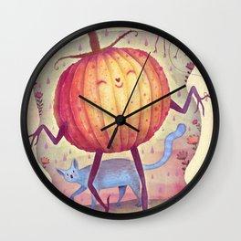 Mr. Pumpkin Wall Clock