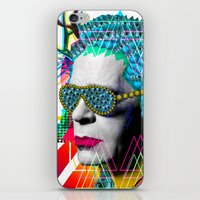 karl iPhone & iPod Skins featuring karl by DIVIDUS