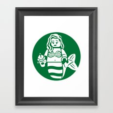 Minifigure Mermaid Framed Art Print