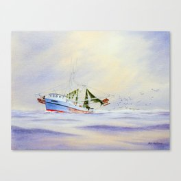 Shrimp Boat On The Gulf Canvas Print