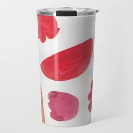 38    | 190408 Red Abstract Watercolour Travel Mug