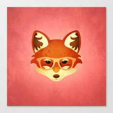 Hipster Fox: Rose Canvas Print