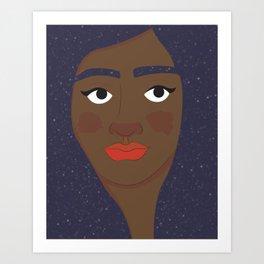 Space Geisha – Black Complexion Art Print