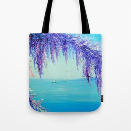 Wisteria by the sea Tote Bag