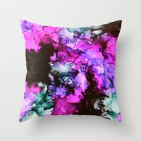 siren Throw Pillows featuring Siren by Claire Day