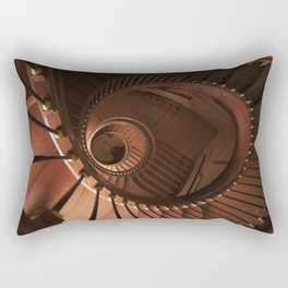 Spiral staircase in browns Rectangular Pillow