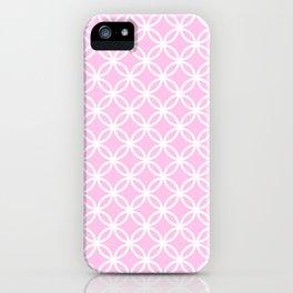 Pink and white interlocking circles iPhone Case