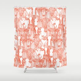 just cattle flame white Shower Curtain