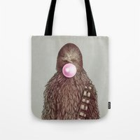 pop Tote Bags featuring Big Chew by Eric Fan
