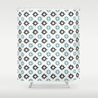 spanish Shower Curtains featuring Spanish Tile by Joachim Kühn