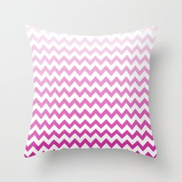 Pink Chevron Pattern! Throw Pillow