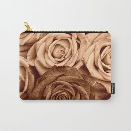 Sepia Roses Carry-All Pouch