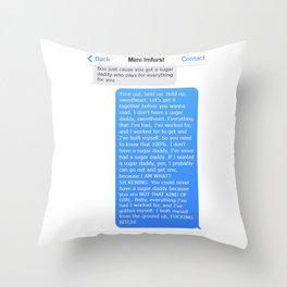 SHANGELA SUGAR DADDY TEXT Throw Pillow