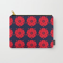 Japanese Samurai flower red pattern Carry-All Pouch