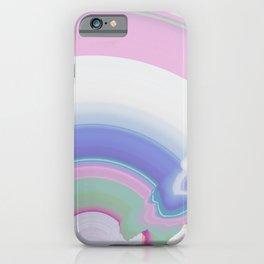 pastel glitch rainbow iPhone Case
