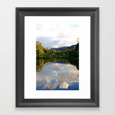 Reflections in the Amazon  Framed Art Print