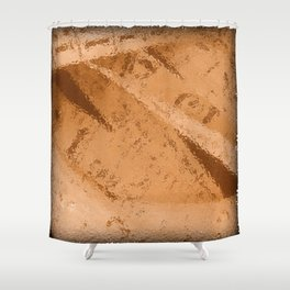 Raining By Numbers Shower Curtain