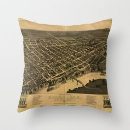 Selma, Alabama 1887 Throw Pillow