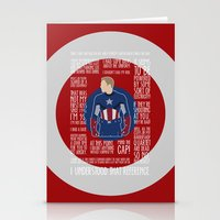 avenger Stationery Cards featuring The First Avenger by MacGuffin Designs