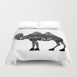 camel silhouette with tribal ornaments Duvet Cover