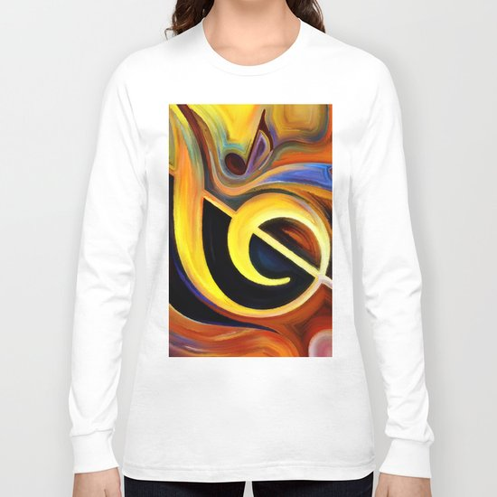 music, painting Long Sleeve T-shirt