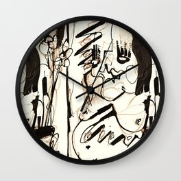 Old Flowers Wall Clock