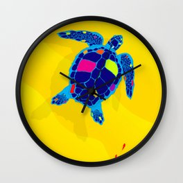 Paper Craft Sea Turtle Wall Clock