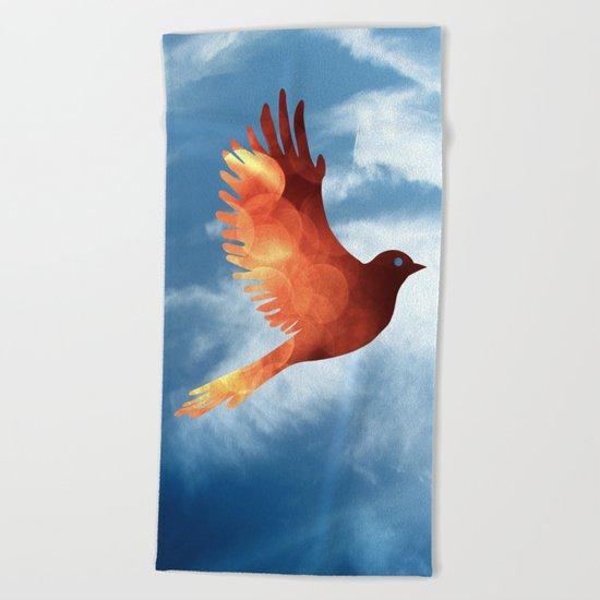 Firebird Beach Towel