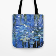 waterlilies a la Monet Tote Bag