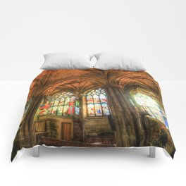 Winter Sun Cathedral Comforters