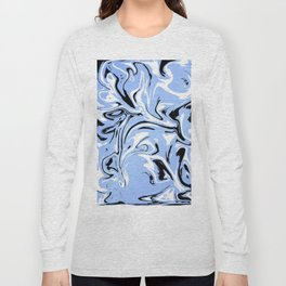 Trippy Blue Long Sleeve T-shirt