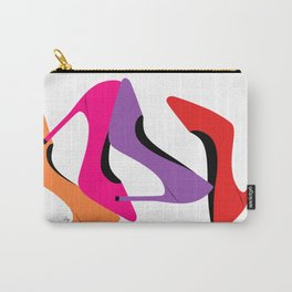 Colorful high heel shoes graphic illustration Carry-All Pouch