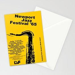 Vintage 1965 Newport, R.I Jazz Festival Advertisement Poster Stationery Cards