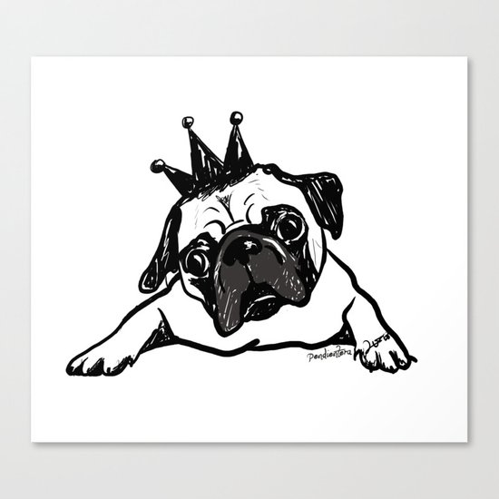 King Pug Canvas Print